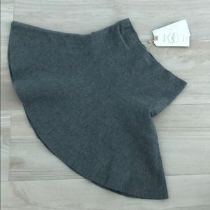 Bershka gray knit skirt S